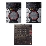 Pioneer CDJ400 CD & DJM600 Mixer Package